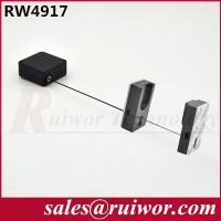 China Anti Theft Pull Box With Adhesive Magnetic Hold , Retractable Security Cable  wholesale