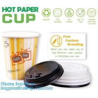 Biodegradable coffee paper cup with lid custom printed paper cup,3oz 5oz 6oz 8oz
