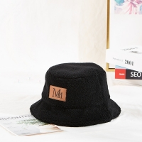 China High Quality Soft Fabric Customization Leather Printing Logo Patch Winter Bucket Cap Hat wholesale