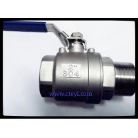 """China Female / Male End Stainless Steel Ball Valves 1/4"""" - 4"""" Investment Casting Body wholesale"""