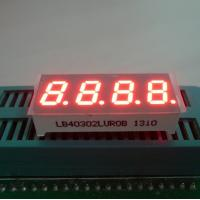 "China Ultra Red 0.30"" 7 Segment Led Display 4 Digit For Temperature / Humidity Indicator wholesale"