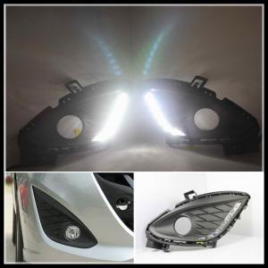 China LED DRL daytime running lights car auto LED daytime driving fog light for Mazda 5 wholesale