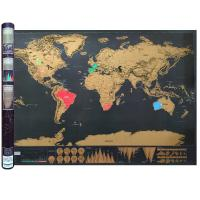 China Large World Scratch Map Poster with Country Flag Scratch Off - Includes Keychain Scratcher on sale