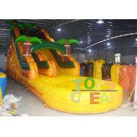 China Yellow Jungle Inflatable Water Slide With Pool For Kids ,  Bounce House Water Slide wholesale