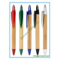 China plastic bamboo ball pen with logo branding for gift advertising wholesale