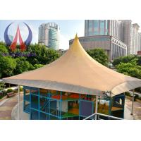 China Practical Tensioned Membrane Structures White Woven Fabric Covered Buildings For Structural Systems wholesale