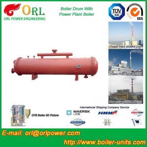 China Anti shock gas hot water boiler mud drum ASME wholesale