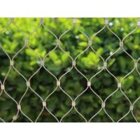China No Toxic Flexible Stainless Steel Mesh Netting , Wire Rope Mesh Solid Structure on sale