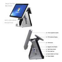 China Retail All In One POS Terminal 15 Inch Built In 80mm Thermal Printer POS System Capacitive Touch Screen Panel wholesale