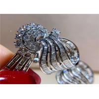 China High End Personalized 18K White Gold Diamond Earrings For Women wholesale