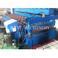 China Metal Roofing Sheet Making Machine 3KW Chain Driven With PLC Control System wholesale