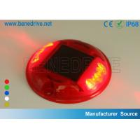 China Round Plastic Barricade Lights, For Traffic Safety Using Sustainable Solar Energy Strong PC Shell wholesale