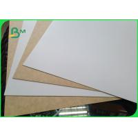China 450gsm  FSC Certified Clay Coated Kraft Back Food Grade Paper Roll / White Liner Paper For Packing on sale