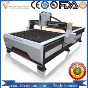 China gantry cnc plasma cutting machine TP1325-125A with Hypertherm plasma power supplier. THREECNC wholesale