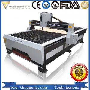 China small cnc plasma cutting machine TP1325-125A with Hypertherm plasma power supplier. THREECNC wholesale