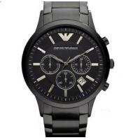 China Emporio Armani AR2453 Classic All Black Ion-Plated Men's SS Bracelet Watch wholesale