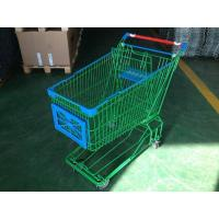 Quality 150L Asian Supermaket Wire Shopping Trolley With Swivel Casters for sale