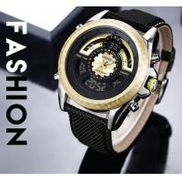 China Wholesale Fashion Men Genuine Leather Band Dual Time Chronograph Multifunction Casual Wrist Watches 1369 wholesale