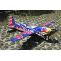 China Red Bull Remote Control Model Airplanes Wireless Gas Power , Edge540 50cc on sale