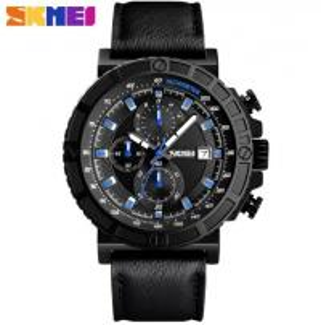 China Wholesale Fashion 1/10 Stopwatch Chronograph Multifunction Genuine Leather Strap Quartz Waterproof 30m Watches 1350 wholesale
