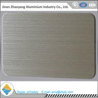 Quality 6063 T6 temper size 30mmX1220mmX2440mm aluminum brush sheet for sale