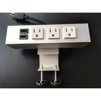 Buy cheap Desk Mounted Power Sockets Electrical Outlet , Metal Tabletop Power Bar Receptacle from wholesalers