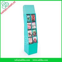 Quality 8 pockets Paper material book shelf cardboard point of sale display shelves for for sale