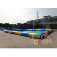 China 10X10M Large Outdoor Inflatable Water Toys For Swimming Pool 0.9mm PVC wholesale