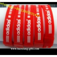 China Professional Cheap Custom Adjustable charm Silicone Wristband/bracelet wholesale