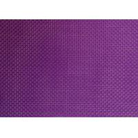 China Purple color 2*2 wires Textilene Outdoor PVC Coated Poly UV Fabric on sale