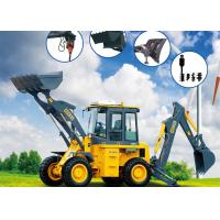 China Multi - Purpose 0.3 CBM Rear Bucket Samll Front End Loader With Backhoe wholesale