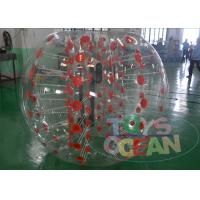 China Human Sized Transparent Inflatable Bumper Ball Amazing Red For Kids SGS / CE wholesale