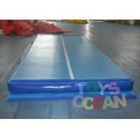 China 30CM Gymnastics Inflatable Tumble Track For Adult / Grey Air Track Tumbling wholesale