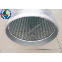 China Low Carbon Galvanized Water Well Screen Excellent Pressure Resistant wholesale