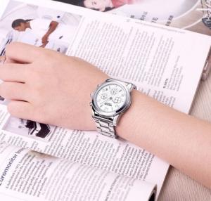 Quality MEGIR Ladies AVANT-GARDE Fashion Steel Strap Chronograph Watererproof 30m Casual Wrist Watches 2057L for sale