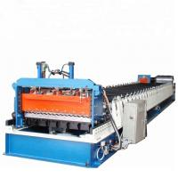 China Flat Steel Corrugated Roll Forming  Steel Tile Panel Cold Roof Roll Forming Machine wholesale