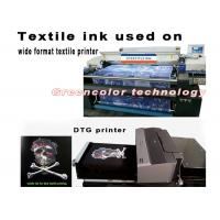 China White textile ink for direct to garment printing , EPSON DX5 printer textile ink on sale