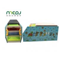 China Ultrasound Pediatric Examination Table Blue Zoo Cartoon Solid Wood Massage Bed wholesale