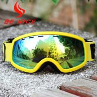 China Anti Dust Anti Glare Kids Ski Goggles With Revo Flash Lens And Polycarbonate Lens wholesale