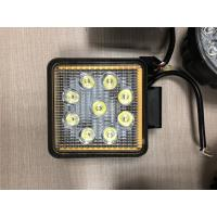 "China Factory Promotion 12V 24V Offroad Truck 5.1"" Square 27W LED Work Light with Ring and Strobe Model wholesale"