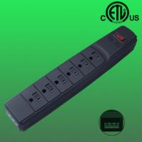China 6 outlet US RJ 11,telephone/ fax line surge protector , ETL listed on sale