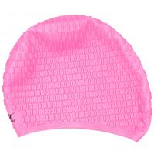 China Pink High Elasticity Long Hair Swim Caps Anti Allergy , Ergonomic Design wholesale