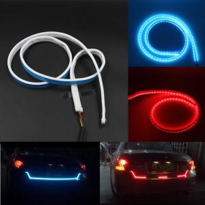 China Car Styling RGB LED Strip Lights Rear Trunk Tail Light RGB Dynamic Streamer Brake Turn Signal Led Warning Lights Strips wholesale