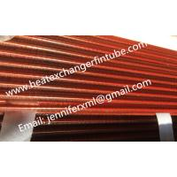 China Tension Wound Single Row Flat Fin Tube For Air Cooled Condenser on sale