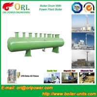 Quality Energy Saving Floor Standing Boiler Mud Drum , Grey High Pressure Drum for sale