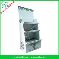 China Customized printing 3 tier Paper material FSDU Cardboard pop up Display and Rack for shelving wholesale