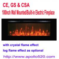"Buy cheap 100"" Linear Electric Fireplace Heater Wall Mounted from wholesalers"