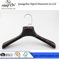 Buy cheap rose gold metal hook plastic hanger imitate wood hanger from wholesalers