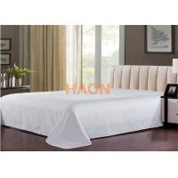 China Plain / Jacquard Hotel Bed Sheets For Single / Double / Queen / King Size Bed on sale