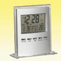 China Digital Desk Clock with Thermometer, Real Time and Calendar Display wholesale